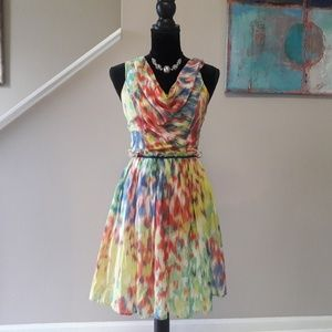 Andrew Marc/ Tie Dye/Tank/ Midi/ Dress